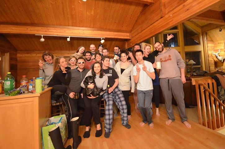 The Group At The Red Roof Lodge